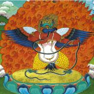 Multicolored Garuda, the Mandala Protector