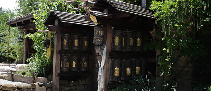 Kalacakra Temple Prayer Wheels